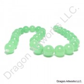 Light Green Round Chinese Jade Beads