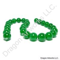 String of Green Jade Beads
