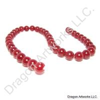 String of Red Jade Beads